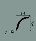Карниз потолочный гладкий Orac Decor Axxent CX127 9,4 x 9,4 x200 см лепной декор из дюрополимера, фото 2