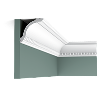 Карниз(плинтус) потолочный гладкий Orac Decor Axxent CX128 6,4 x 9,4 x200 см лепной декор из дюрополимера