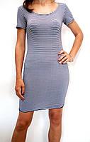 Женское летнее пляжное платье в полоску