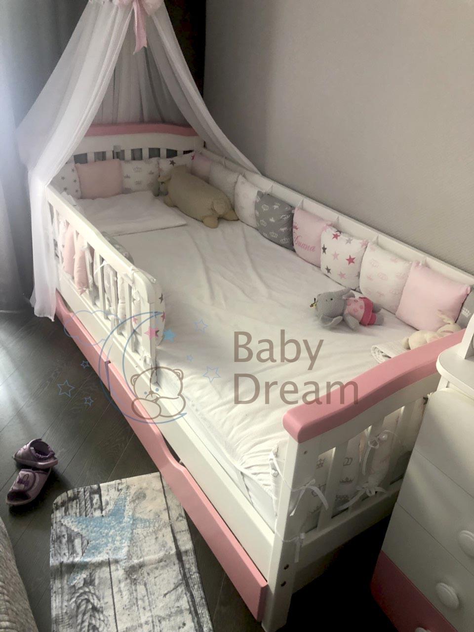 Кровать подростковая с бортиками Конфетти Baby Dream