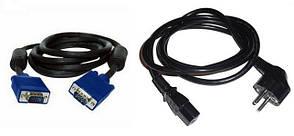 Комплект кабелей питания 220V + VGA
