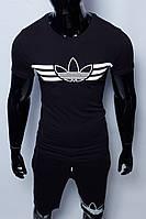 Костюм футболка с шортами мужской Adidas 200 черный в стиле бренда