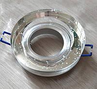 Вбудований світильник з бульбашками SV-8011 Кисень точковий круглий прозорий, фото 1