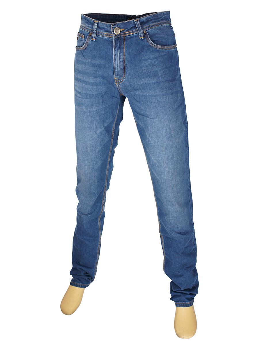 Прямі чоловічі джинси в синьому кольорі X-Foot 261-2368 C: Blue