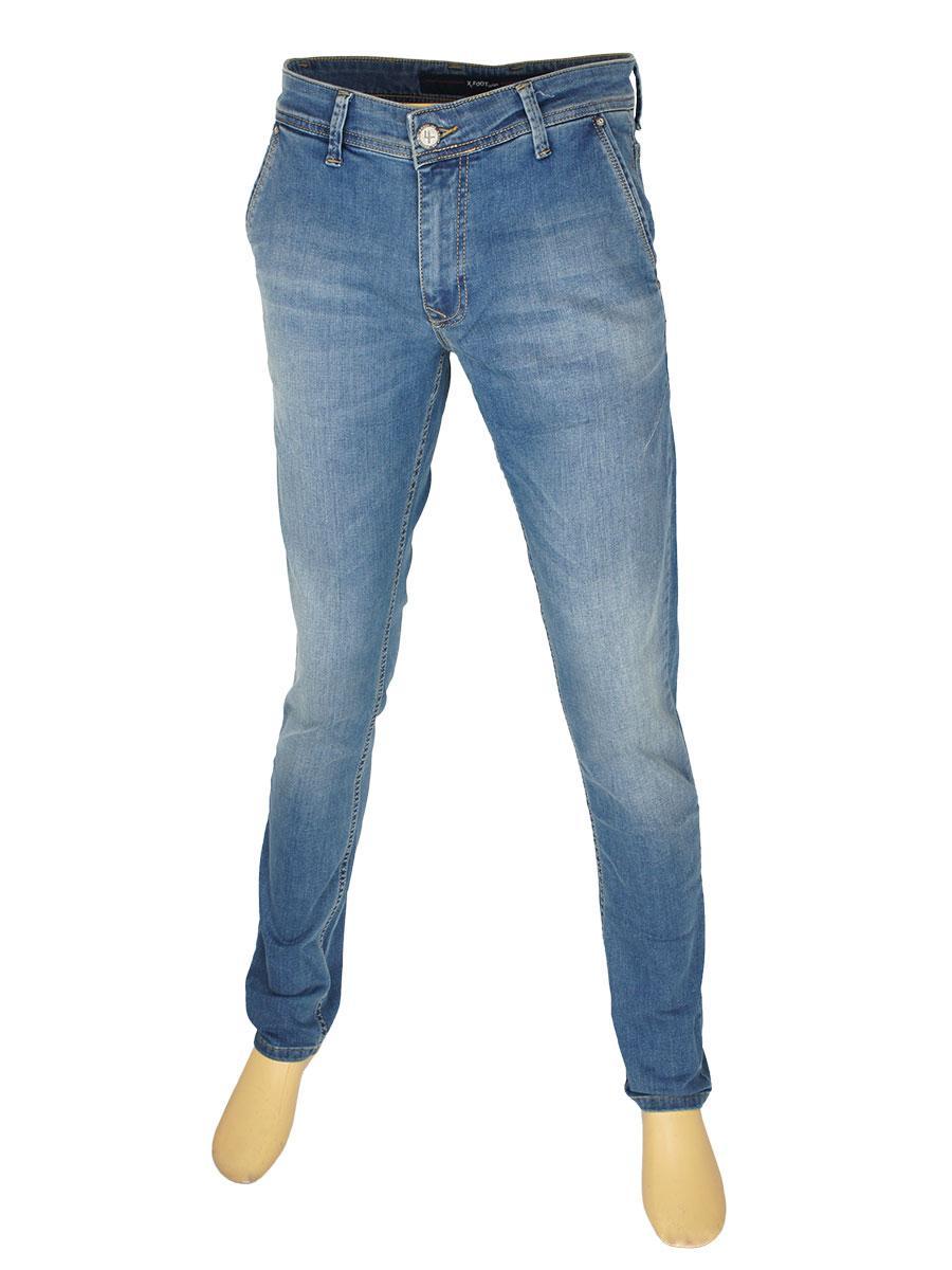 Чоловічі джинси з косими кишенями X-Foot 262-2442 C: Tint Blue