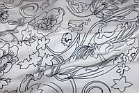 Ткань шелк армани белый фон (нет свечения)№ 321, фото 1