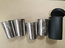 Стопки в наборі сріблясті 150мл 4 шт в чохлі