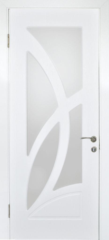 Міжкімнатні двері зі склом Німан ЛІЛІЯ Н-42 скол дуба білий