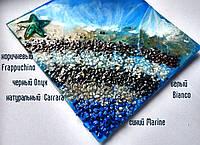 Окрашенный кварцевый песок для техник ResinArt и декора, фракция средняя. Цвет коричневый Frappuchino 200г, фото 1