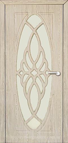 Міжкімнатні двері зі склом Неман ОРХІДЕЯ Н-43 дуб крем
