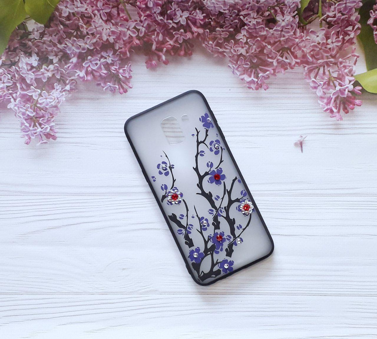Чехол Yotoo Flowers для Samsung J6 2018, J600, Violet