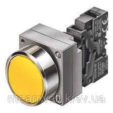Кнопка нажимная Siemens 3SB 3SB3602-0AА41 22 mm,метал