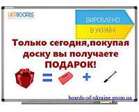 Магнитно - маркерная доска 100х150 см +подарок