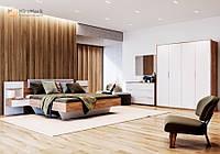 Комплект мебели для спальни Asti / Асти Дуб Крафт - Глянец Белый ТМ Миро Марк
