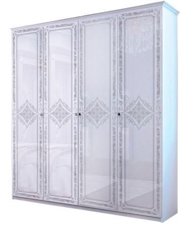 """Шкаф """"Луиза 4 дв без зеркал"""" Белый глянец ТМ """"Миро марк"""""""