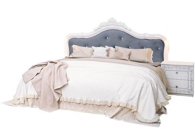 """Кровать """"Луиза с каркасом"""" Белый глянец ТМ """"Миро марк"""""""