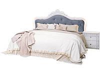 """Кровать """"Луиза с каркасом"""" Белый глянец ТМ """"Миро марк"""", фото 1"""