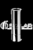 Дымоход 250/320 нерж/цинк 0.8мм 1м