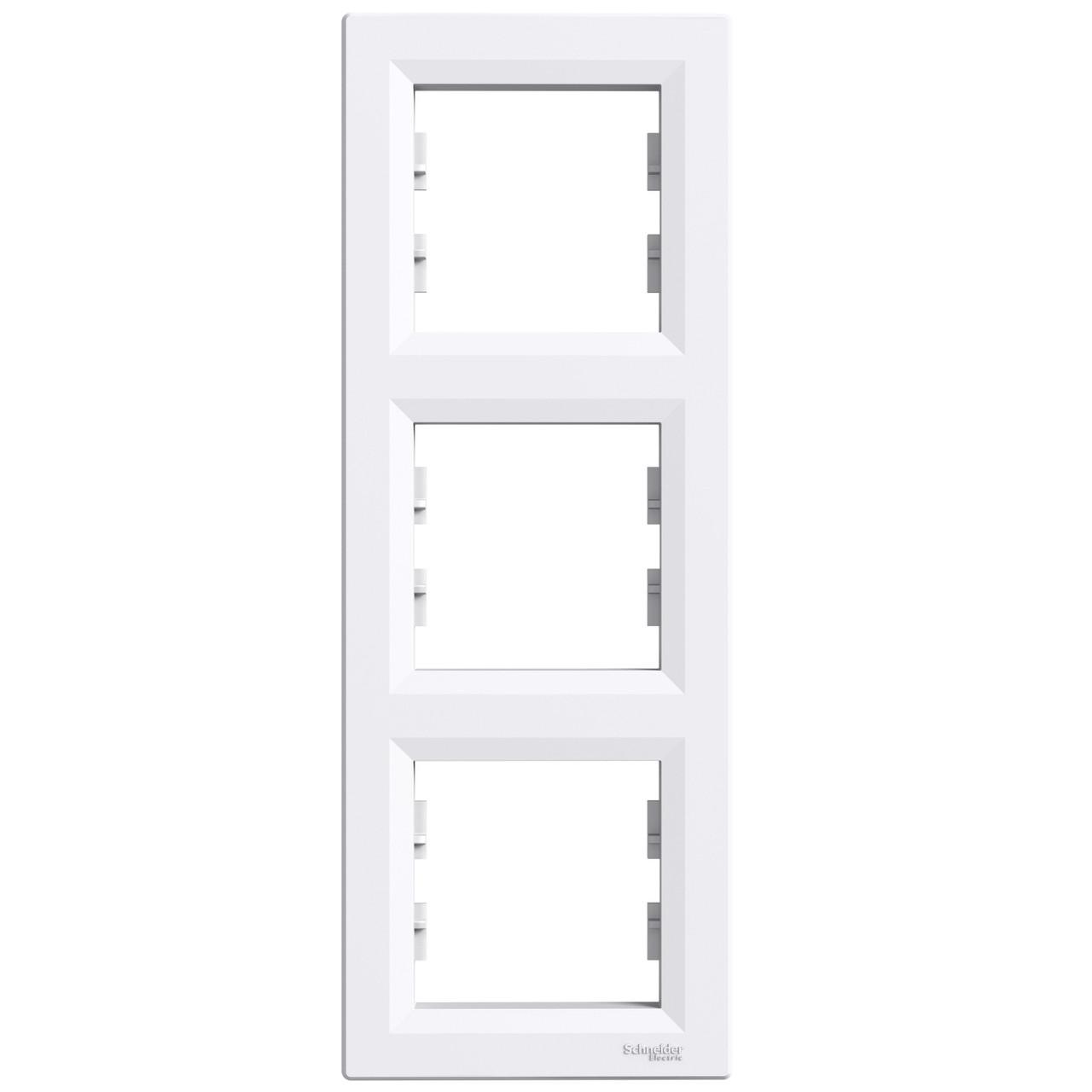 Рамка Schneider Asfora 3-постовая вертикальная