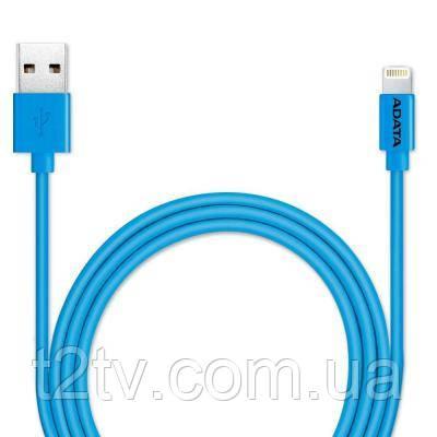 Дата кабель USB 2.0 AM to Lightning 1.0m MFI Blue ADATA (AMFIPL-100CM-CBL)