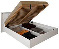 Кровать Белла 160*200 с каркасом подъемным механизмом и мягкой спинкой глянец белый ТМ Миро Марк, фото 1
