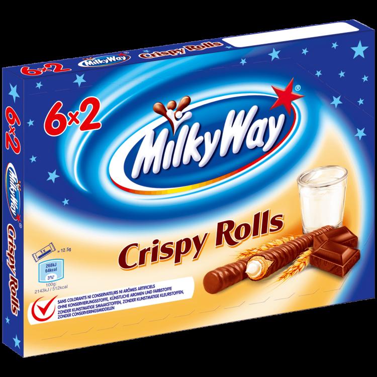 Шоколадные батончики Milky Way Crispy Rolls