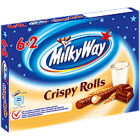 Шоколадные батончики Milky Way Crispy Rolls, фото 1