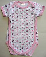Летний боди-футболка для девочки (3-12 мес)