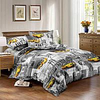 Сатиновое постельное бельё семейное евро (10633) хлопок, фото 1