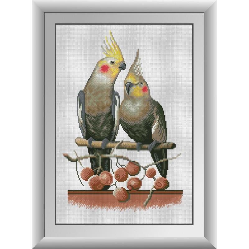 Набор алмазной мозаики На качелях (попугаи) Dream Art 30847 (33 x 49 см)