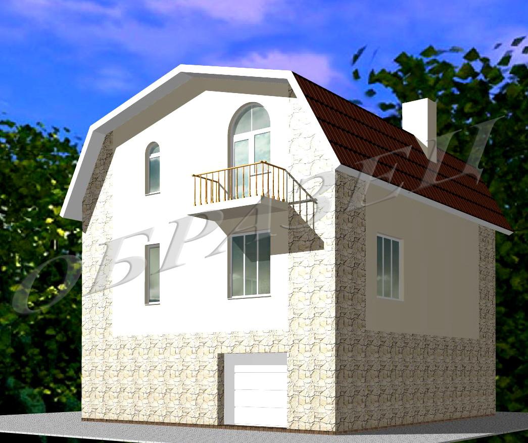 Готовий проект житлового будинку К6