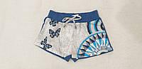 Трикотажные комбинированные шорты для девочки
