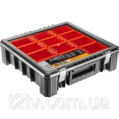 Ящик для инструментов Neo Tools 65x390x290мм с регулируемыми перегородками (84-110)