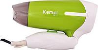Фен для волос, дорожный со складной ручкой KEMEI KM-6830 1200W.