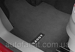 Оригинальные коврики в салон VolkswagenCaddy 2008-н.в. текстильные Premium передние антрацит (2K1061275PBRYJ)