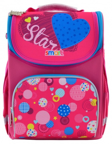 Рюкзак школьный, каркасный Сolourful spots (12 л) «Smart» (555900)