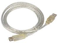 Удлинитель USB 2.0 AM/AF, 5.0m, 2 фильтра