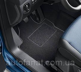 Коврики в салон Volkswagen Caddy 4 (SA) Plus 2016-н.в. текстильные черные передние и задние (2K1061404WGK)
