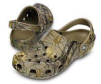 Кроксы мужские шлепанцы Классик Камуфляж Сабо оригинал / Crocs Men's Classic Realtree Xtra Clog, фото 1