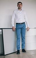 Брюки коттоновые голубого цвета West-Fashion А 408А