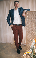 Брюки коттоновые коричневого цвета West-Fashion А 406А