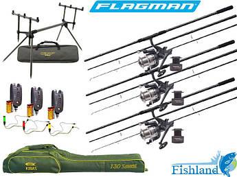 Полностью готовый набор для ловли карпа Flagman Magnum Black Carp + Carp Pro