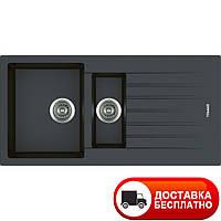Гранитная мойка Apell Pietra Plus PTPL1002GB BLACK GRANIT 100*50