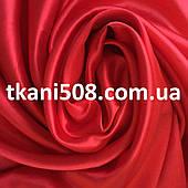 Ткань Атлас Красный (1)