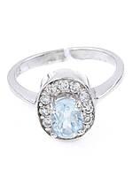 Кольцо серебряное с топазом, фото 1
