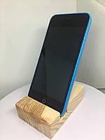 Підставка EcoLife під телефон iPhone з натуральної деревини. Витримана Сосна., фото 1