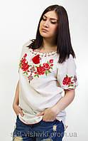 """Блуза вышитая женская """"Зоряна"""" лен 0-68, фото 1"""