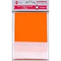 Набір помаранчевих заготовок для листівок, 10см*15см, 230г/м2, 5шт. , Santi