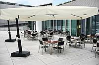 Консольные зонты для кафе и ресторанов Eclisse (Италия). Ткань Acrylic gr. 320 m/q Ecru (беж.).