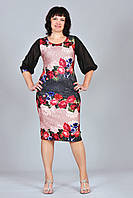 Элегантное платье с шифоновыми рукавами собранными у манжета